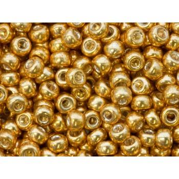 Бисер круглый Miyuki Galvanized Yellow Gold (№1053)