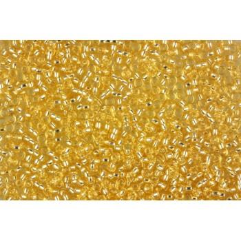 Бисер круглый Miyuki Silver Lined Gold (№3)