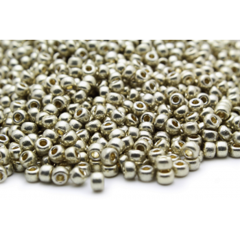 Бисер круглый Miyuki Duracoat Galvanized Silver (№4201)