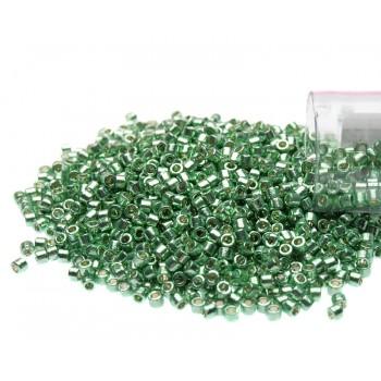 Бисер цилиндрический Miyuki Delica DB1844 Duracoat Galvanized Dark Mint Green