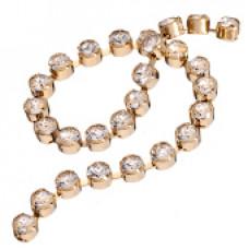 Стразовая лента Swarovski Crystal (золотая база)