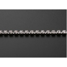 Стразовая лента Swarovski Crystal (серебристая база)