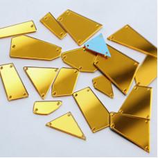 Пришивные зеркала Золото (яркое)