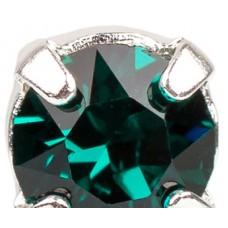 Шатон с кристаллом Swarovski Emerald в оправе