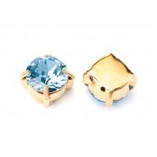Шатон с кристаллом Swarovski Gold Aquamarine в оправе