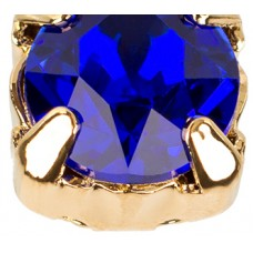 Шатон с кристаллом Swarovski Gold Majestic Blue в оправе