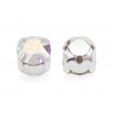 Шатон с кристаллом Swarovski Crystal AB в оправе