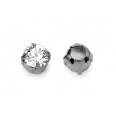 Шатон с кристаллом Swarovski Crystal в оправе