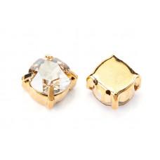 Шатон с кристаллом Swarovski Gold Crystal Golden Shadow в оправе