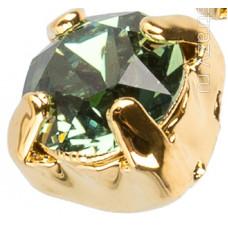 Шатон с кристаллом Swarovski Gold Erinite в оправе