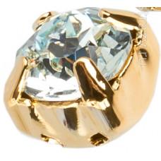 Шатон с кристаллом Swarovski Gold Light Azore в оправе