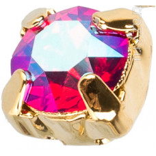 Шатон с кристаллом Swarovski Gold Light Siam Shimmer в оправе