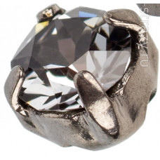 Шатон с кристаллом Swarovski Gun Metal Brushed Crystal Silver Night в оправе