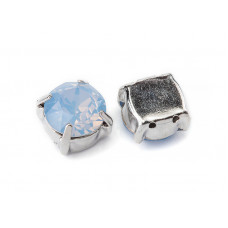 Шатон с кристаллом Swarovski Air Blue Opal в оправе