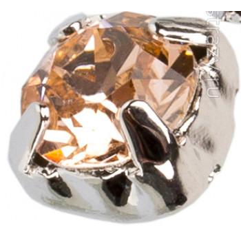 Шатон с кристаллом Swarovski Light Peach в оправе