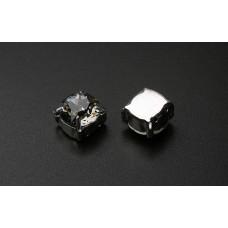 Шатон с кристаллом Swarovski Black Diamond в оправе