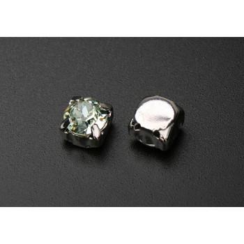 Шатон с кристаллом Swarovski Chrysolite в оправе