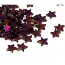 Бусины Звездочки (фиолетовые)