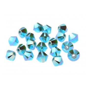 Биконусы XILION Swarovski Turquoise AB 2X