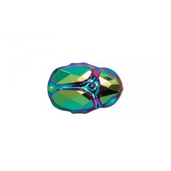 Бусина Scarab Bead 12mm - Crystal Scarabaeus Green 2X
