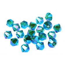 Биконусы XILION Swarovski Blue Zircon AB 2X