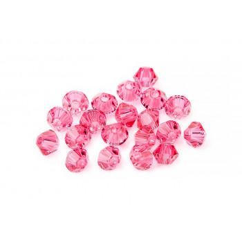 Биконусы XILION Swarovski Indian Pink