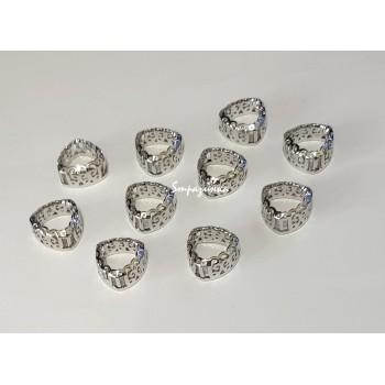 Фигурная оправа для триллианта Серебро