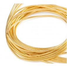 Мягкая канитель 1 мм. Яркое золото