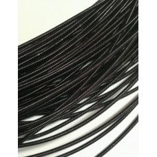 Жесткая канитель 1 мм. Чёрная (1 метр)