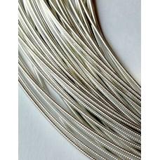 Жесткая канитель 1 мм. Серебро