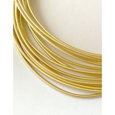 Жесткая канитель 1 мм. Светлое золото