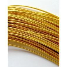 Жесткая канитель 1 мм. Яркое золото