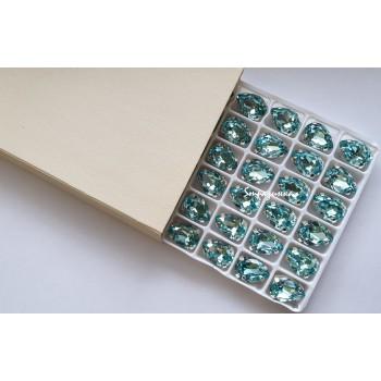 Капля Light Turquoise в оправе (хрусталь)
