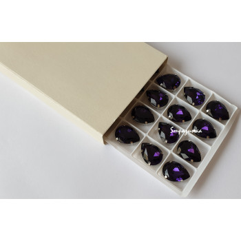 Капля Purple в оправе (хрусталь)