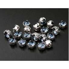 Шатон с кристаллом Swarovski Denim Blue в оправе