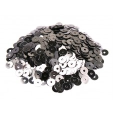 Пайетки плоские 3 мм. Acciaio Metallizzati