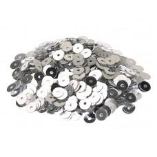 Пайетки плоские 2 мм. Argento Metallizzati