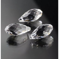 Бусины Briolette Crystal 6х12 мм, 50 штук