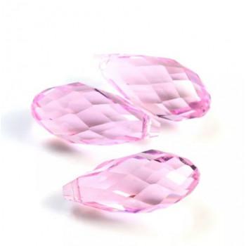 Бусины Briolette Light Pink 6х12 мм, 50 штук