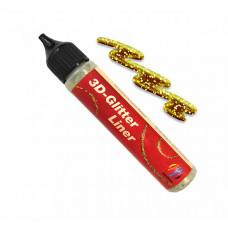 3D-Контур Glitter Liner 28 мл Gold