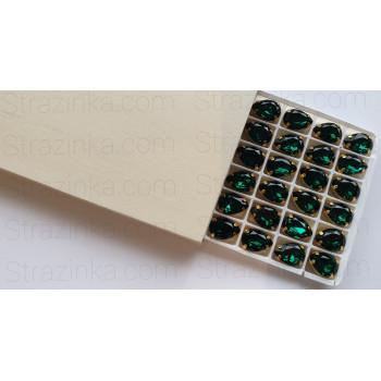Капля Emerald в золотой оправе (хрусталь)