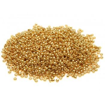 Бисер круглый Miyuki Duracoat Galvanized Gold (№4202)
