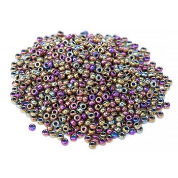 Бисер круглый Miyuki Metallic Purple/Gold Iris (№188)