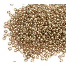 Бисер круглый Miyuki Duracoat Galvanized Champagne (№4204)