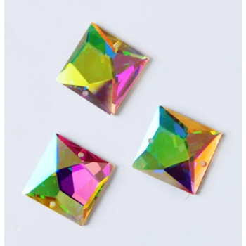 """Квадрат Crystal AB, с """"ломанной"""" поверхностью"""
