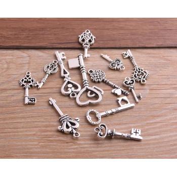 Ключ-подвеска (серебро) 3 см