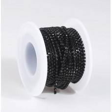 Стразовая лента Black (база Black)