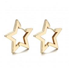 Серьги Звёзды, цвет золото