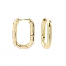 Серьги Овалы, цвет золото