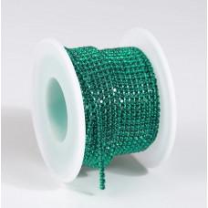 Стразовая лента Green Zircon (база Green Zircon)